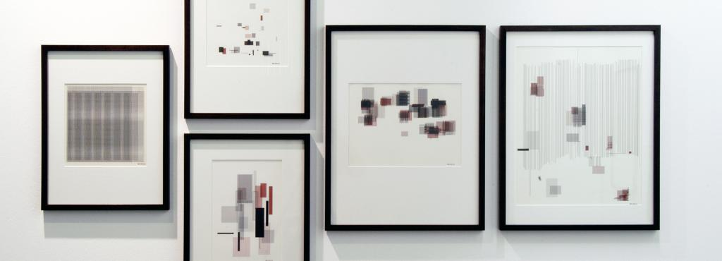 "Exhibition view ""Frieder Nake: Precise Pleasures"""