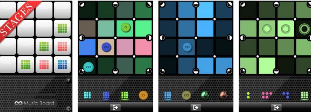 Screenshots der App »Music Board«