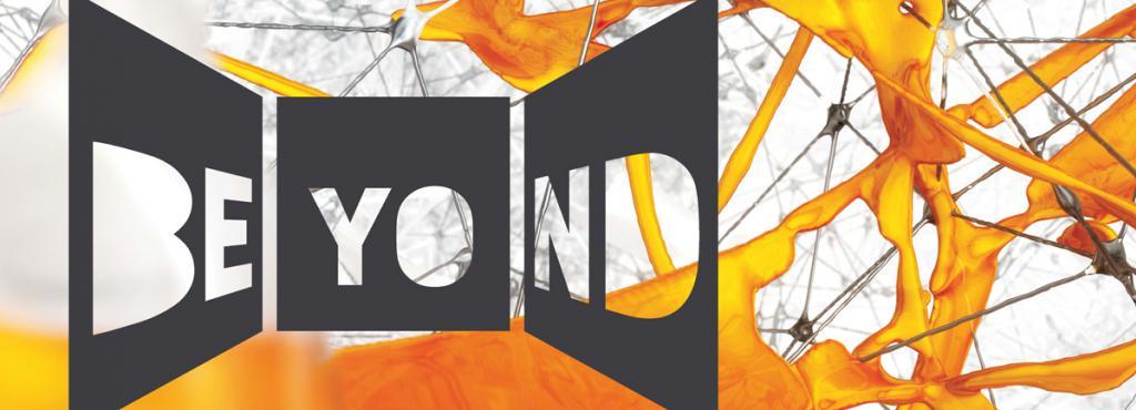 BEYOND on an orange background