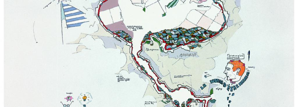 Gianfranco Baruchello, »Agricola Cornelia. Cross Section with underground system«