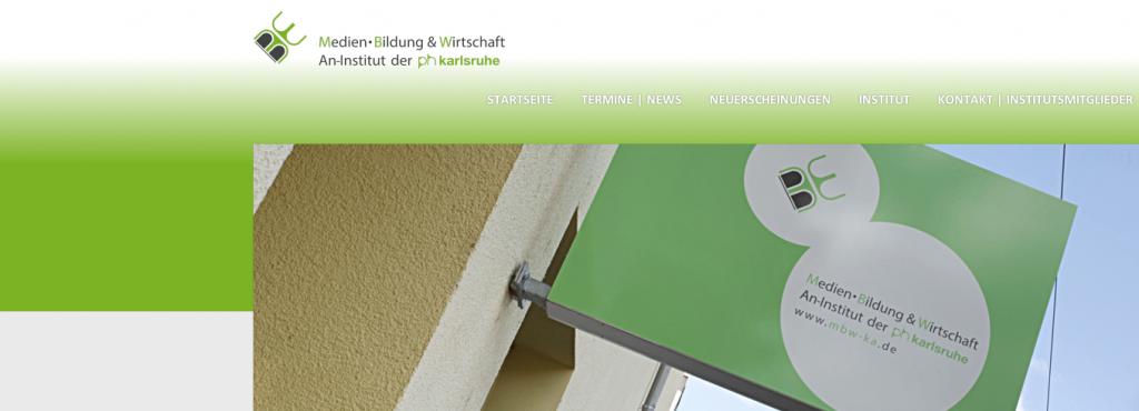 Screenschot der Startseite des Instituts für Medien, Bildung und Wirtschaft gGmbH