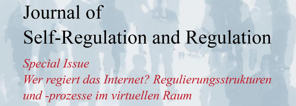 Cover of the Journal of Self-Regulation and Regulation