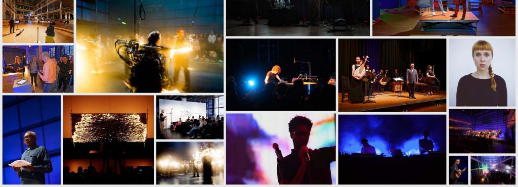 Collage verschiedener Bilder zu ZKM-Ausstellungen