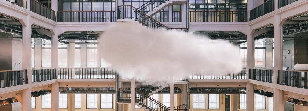 Eine Wolke im ZKM