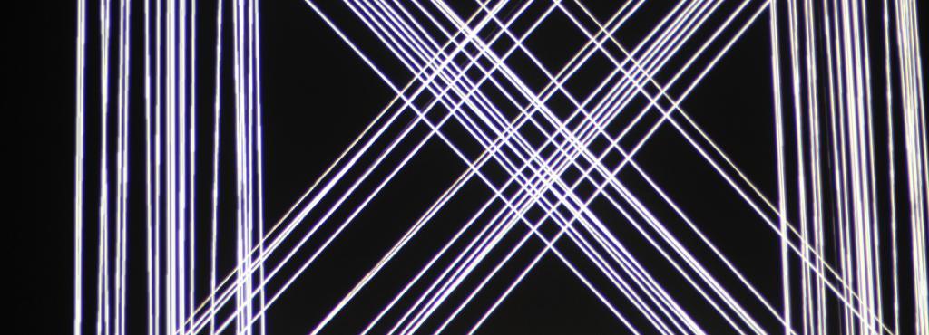 Weiße Laserstrahlen