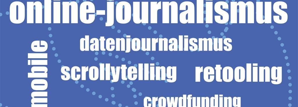 Verschiedene Begriffe auf blauem Hintergrund