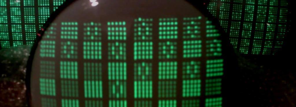Kathodenstrahlröhren zeigen das Muster des Damespiels von 1951.