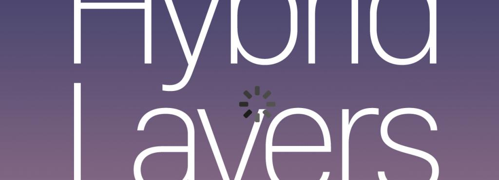 Cover in form of a cell phone display, purple color gradient, white font.