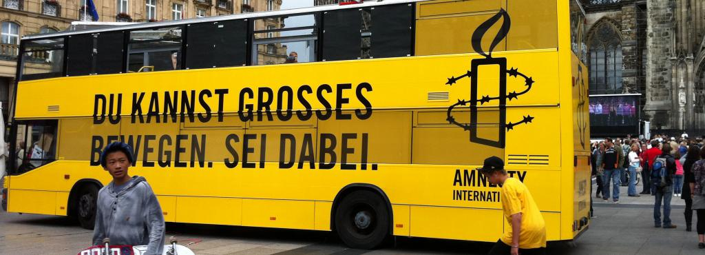 Yellow Bus from Amnesty International