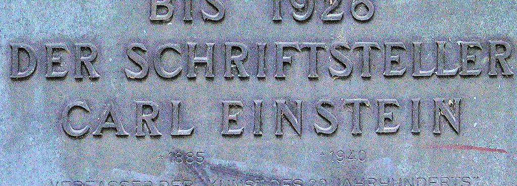 Gedenktafel, Carl Einstein, Zeltinger Straße 54, Berlin-Frohnau, Deutschland