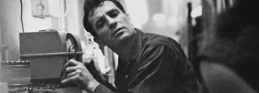 Jack Kerouac listening to the radio