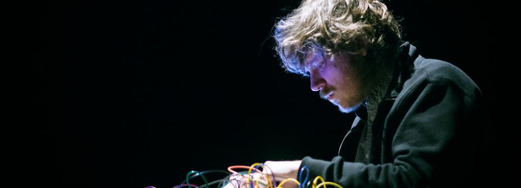John Chantler synthesizing at a concert