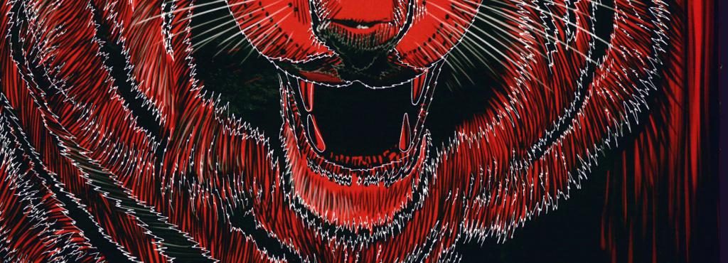 Das Buchcover zeigt einen Tigerkopf in rot, grau, schwarz und weiß sowie den Titel »Global Activism« in weiß.