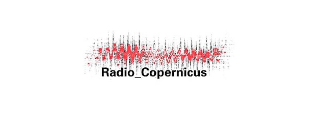 """Visualisation of a sound recording, below the words """"Radio_Copernicus"""""""