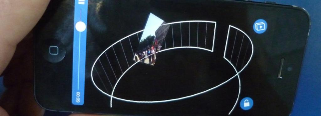 Handybildschirm mit einer 360° Ansicht