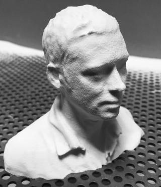 A man's bust