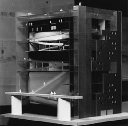 A model design of the ZKM-new building.