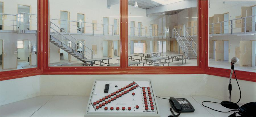 View from a control room in prison