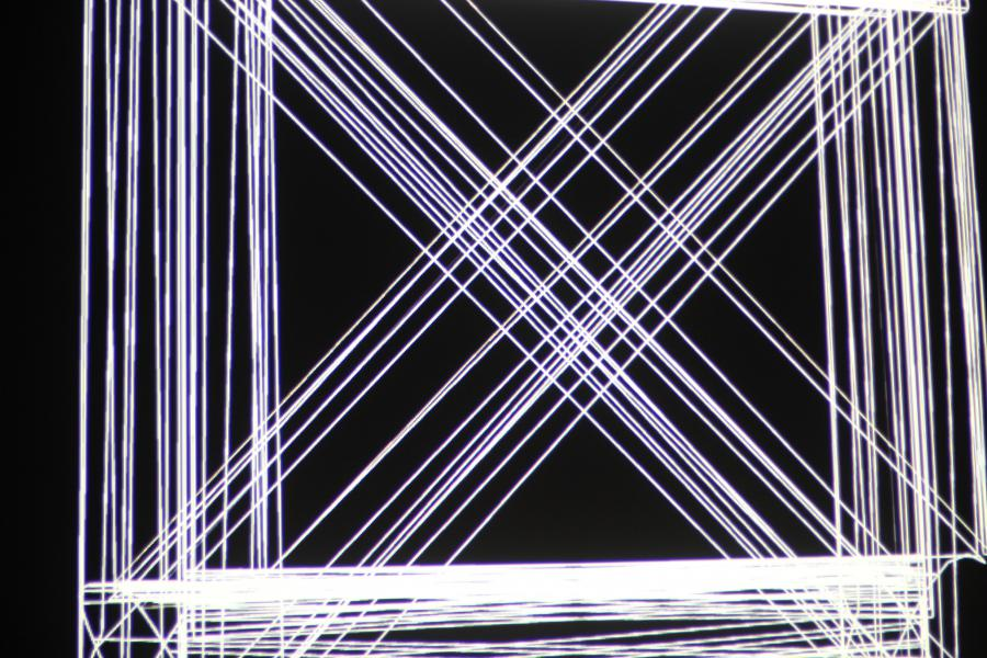 white laser beams