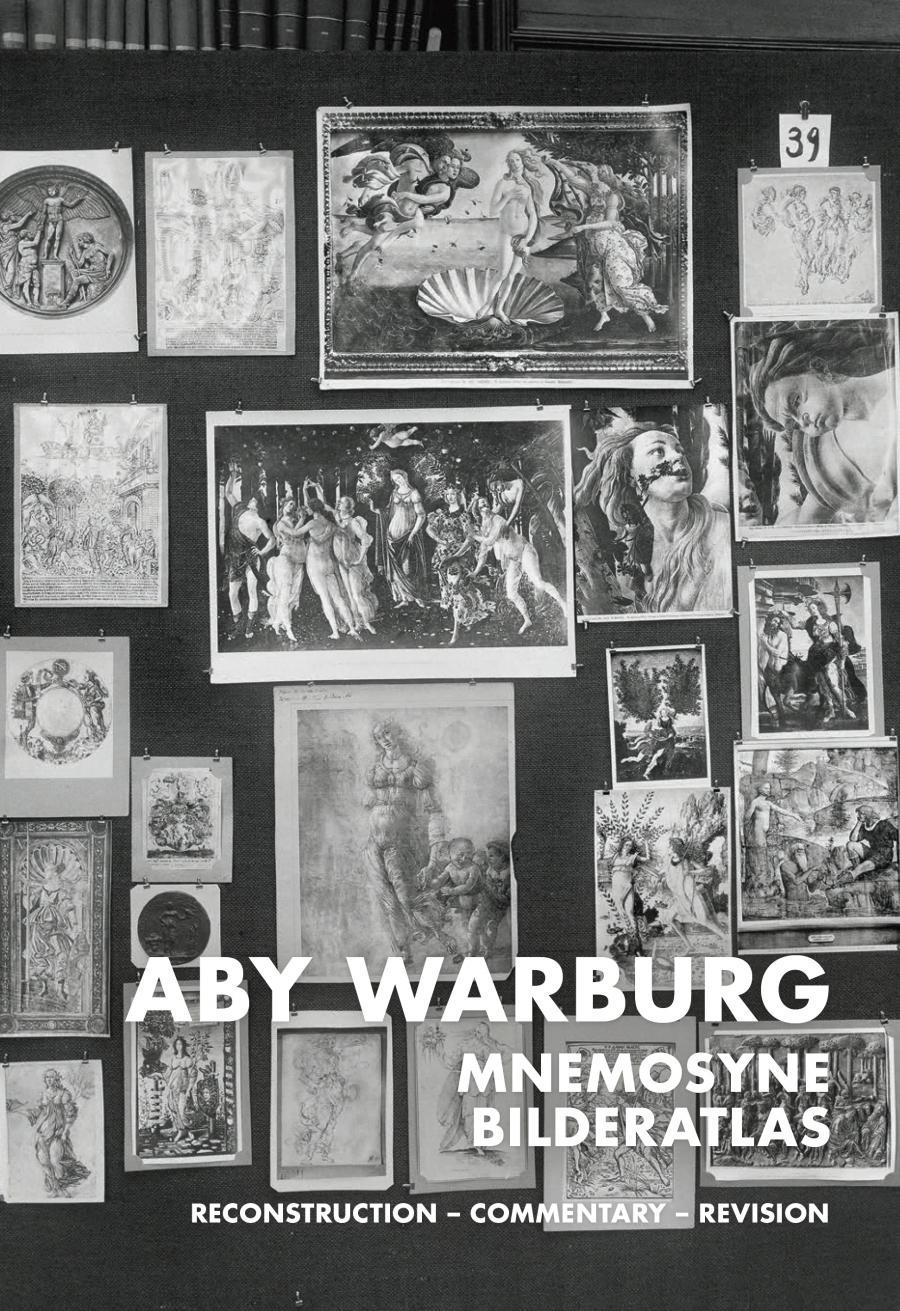 Cover dof the publication »Aby Warburg. Mnemosyne Atlas«: photograph of one of the panels