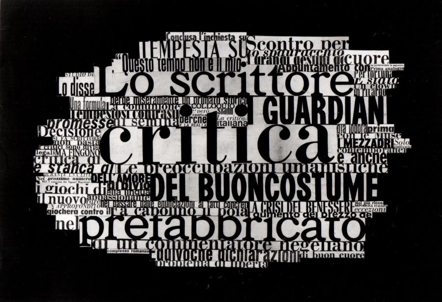 Nanni Balestrini, »from the series« - Lo scrittore