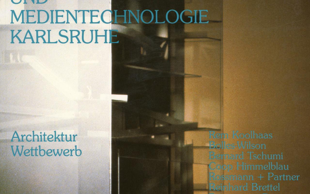 Cover of the publication »Das Zentrum für Kunst und Medien Karlsruhe. Ein Architektur Wettbewerb«