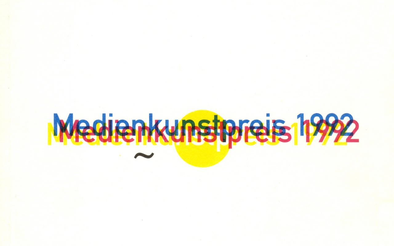 Cover of the publication »Medienkunstpreis 1992«