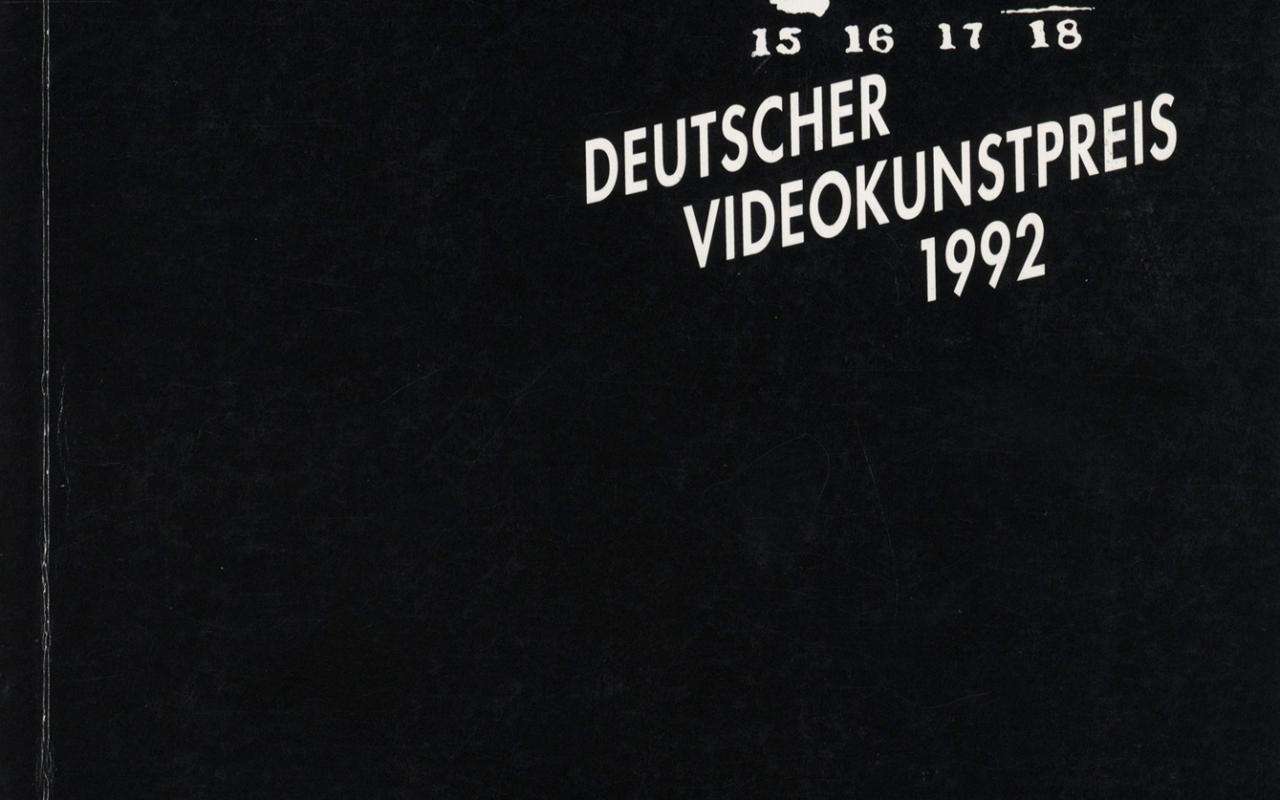 Cover der Publikation »Deutscher Videokunstpreis 1992«