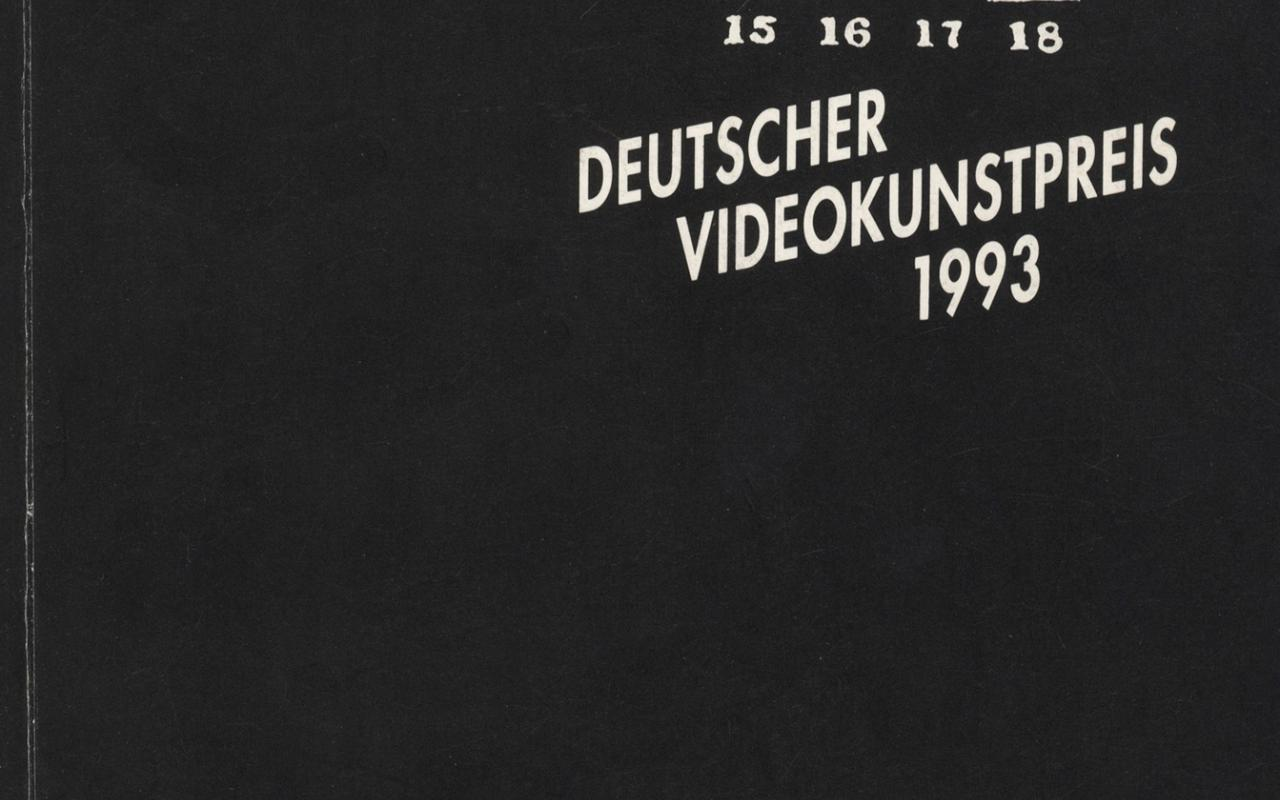 Cover of the publication »Deutscher Videokunstpreis 1993«