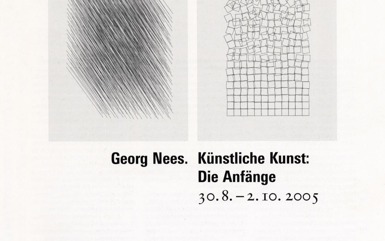 Cover der Publikation »Georg Nees: Künstliche Kunst. Die Anfänge«