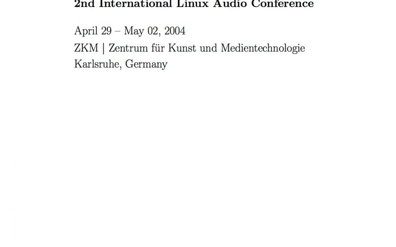 Cover der Publikation »LAC2004 Proceedings«