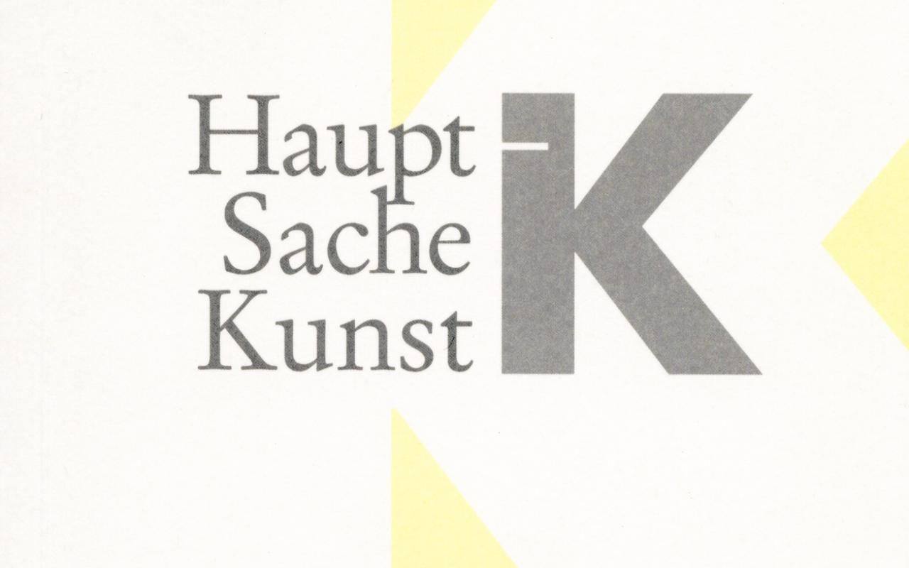 Cover der Publikation »Haupt Sache Kunst«