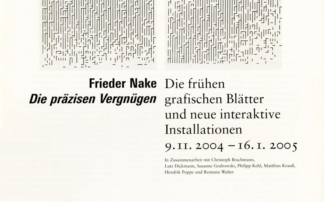 Cover of the publication »Frieder Nake: Die präzisen Vergnügen«