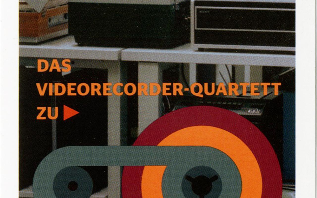 Cover of the publication »Record Again! Videorecorder Quartett«