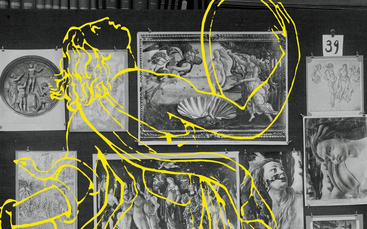 Titelbild der Ausstellung zu »Aby Warburg. Mnemosyne Bilderatlas«