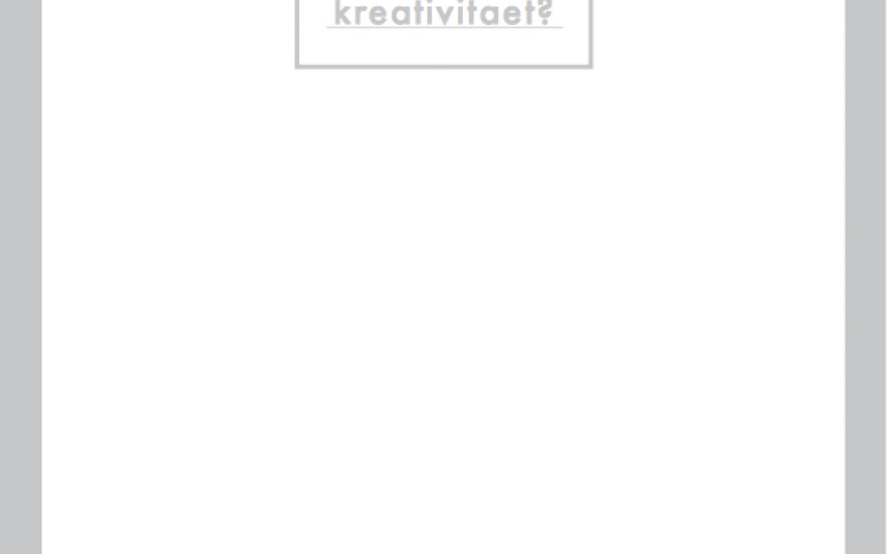 Cover of the publication »Kteraevitiat*– arbeitsheft: kreativitaet?«