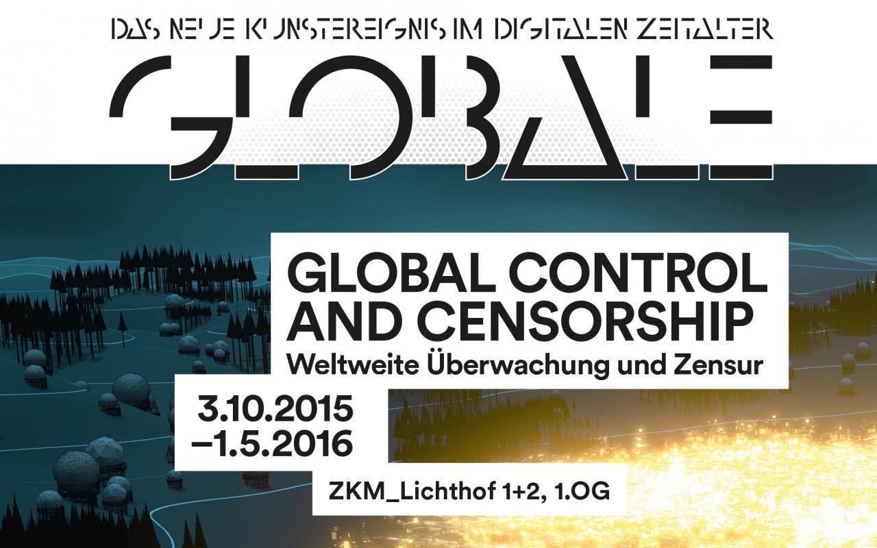 Cover der Ausstellungsbroschuere »Global Control and Censorship«