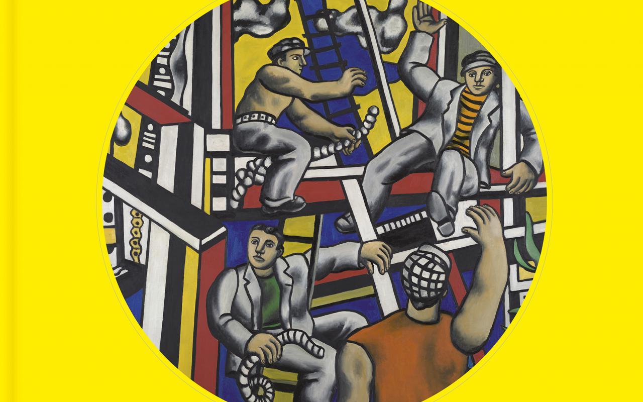 Buchcover mit einem Ausschnitt von Fernand Legers Gemälde »Constructeurs« (1951)