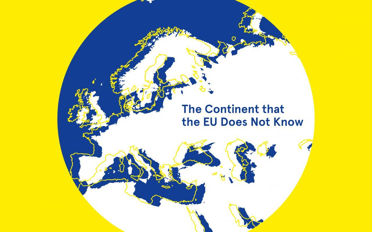 Gelbe Titelseite mit einer blau, weiß und gelben Erdkugel. Weiße und blaue Schrift.