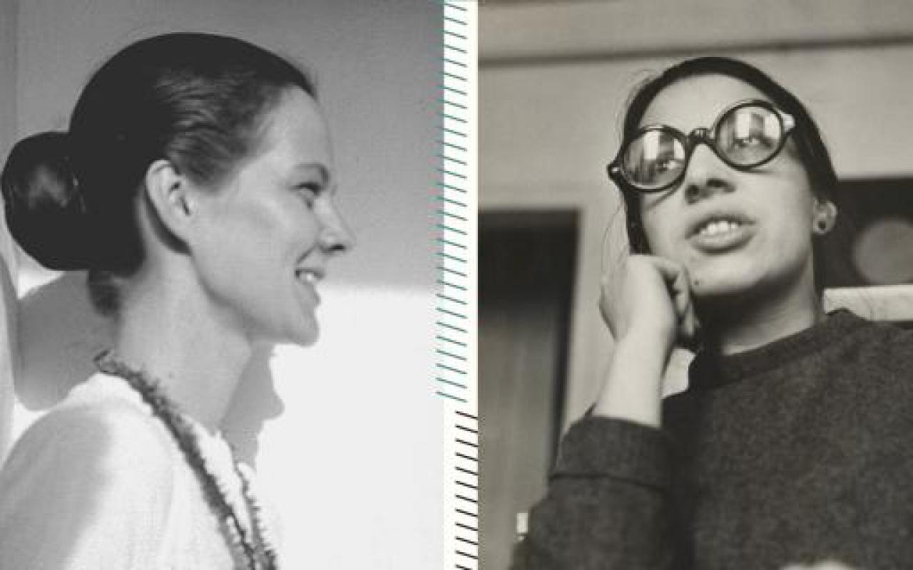 Ein Foto von zwei Frauen der Beat Generation