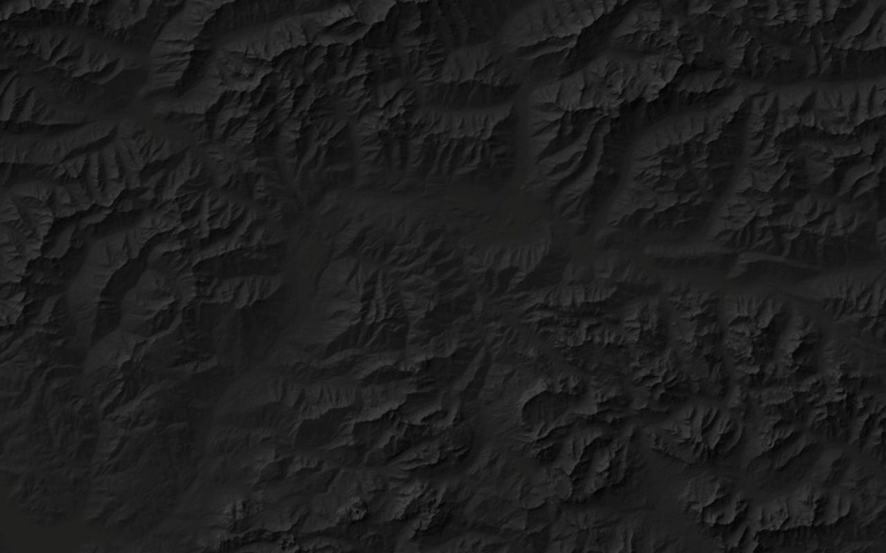Black Alpine landscape from the bird's eye view