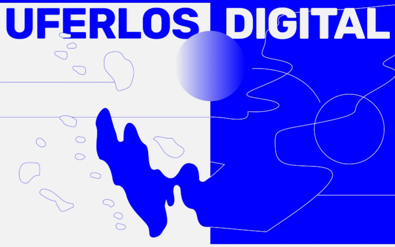 """In big capital letters one can read the letters """"UFERLOS DIGITAL"""""""
