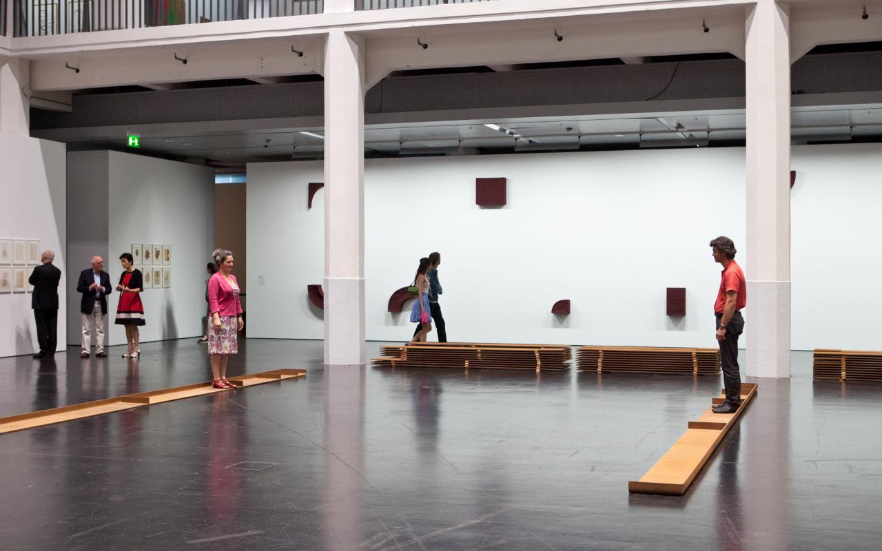 Exhibition view Franz Erhard Walter