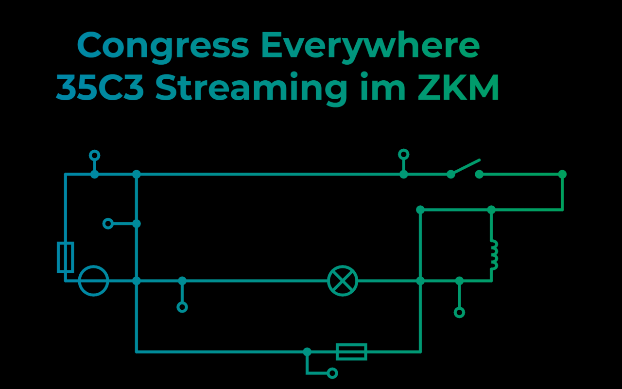 Congress Everywhere 35C3 Streaming at the ZKM