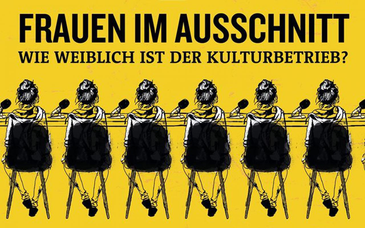 Plakat des Thementags »Frauen im Ausschnitt« bei den ARD Hörspieltagen.