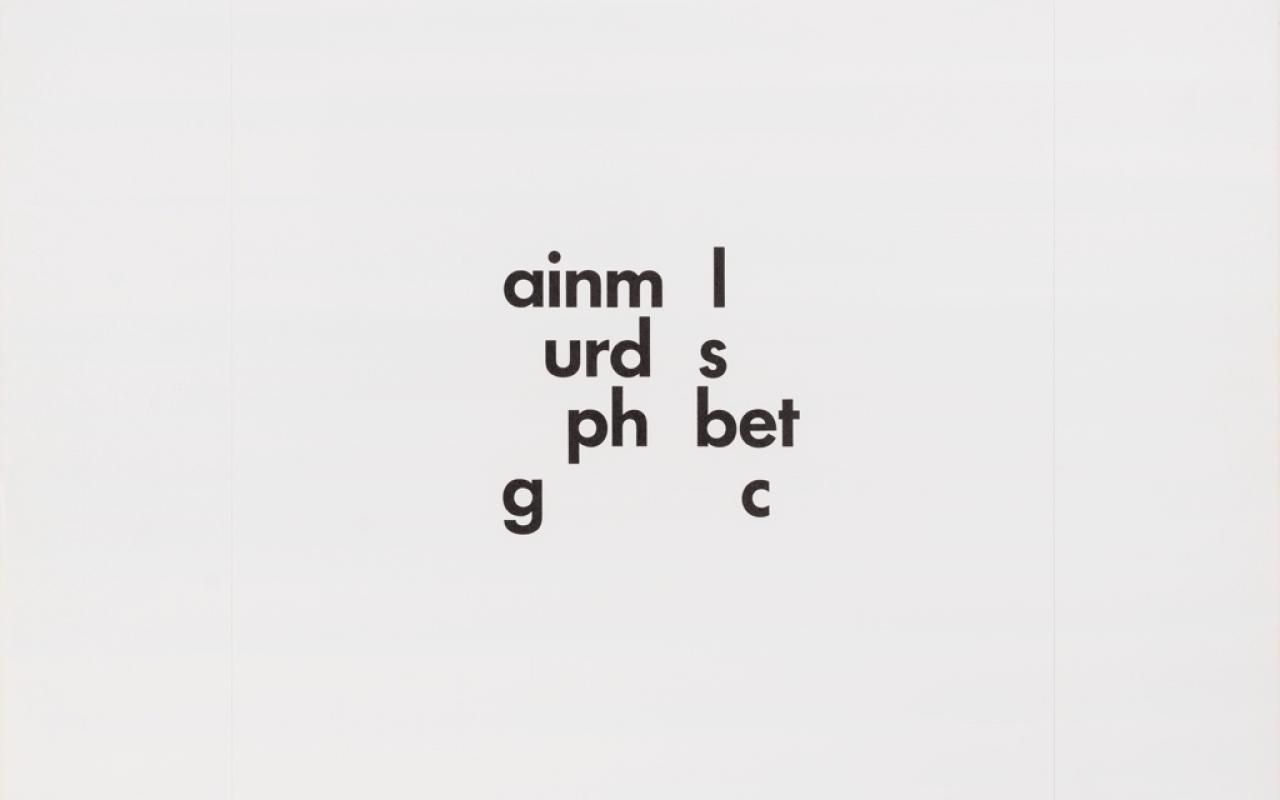 ainmal nur das alphabet gebrauchen