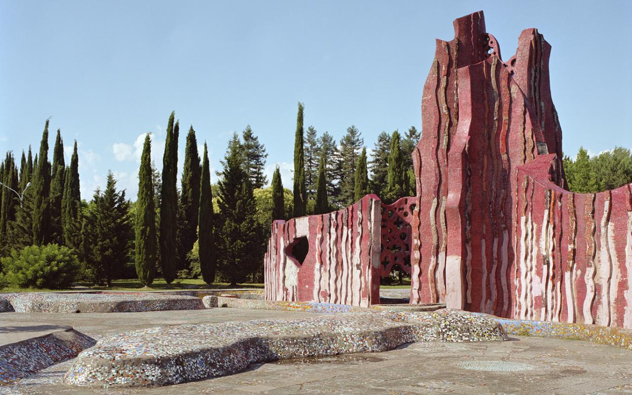 Kindersanatorium, Buntes Kachelbecken (S. Zereteli, Adler, Russland, 1973)