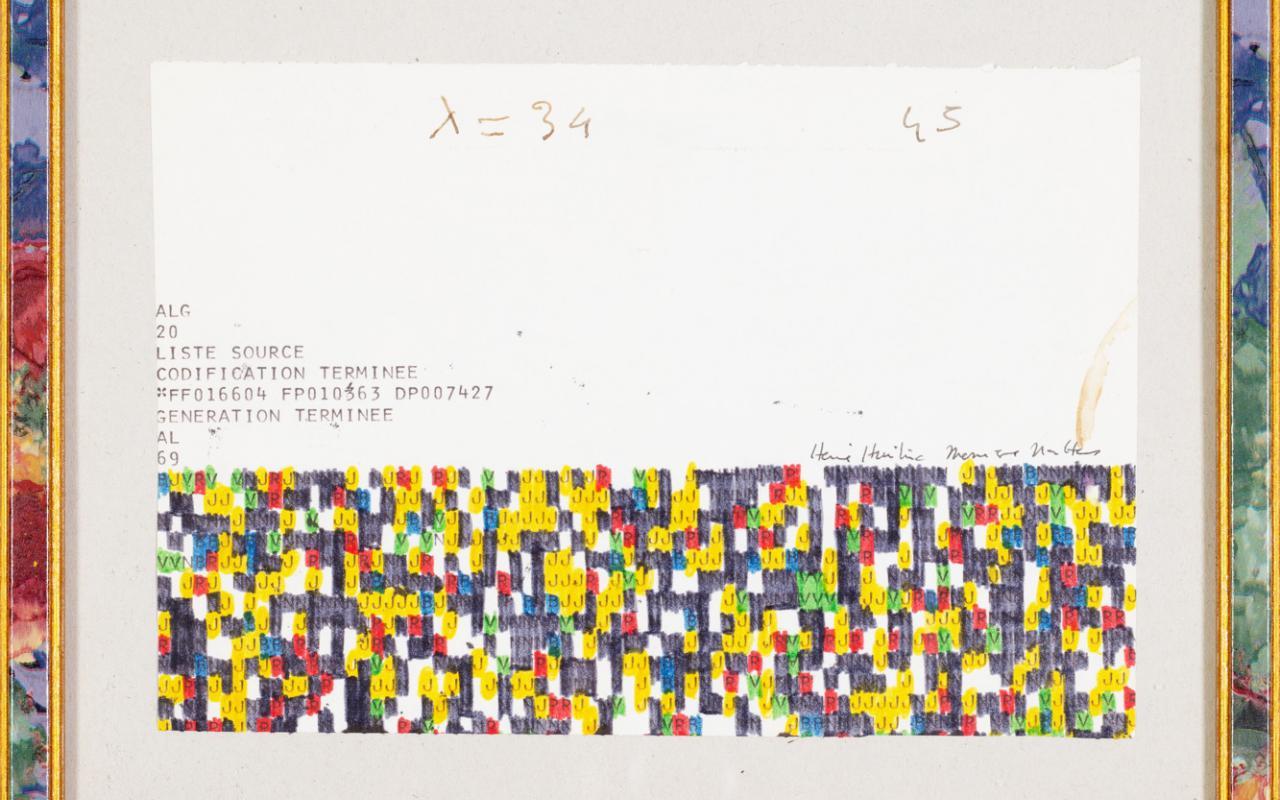 Werk - Studie für den Farbverlauf für 'Serie continue rouge' (Horloge)