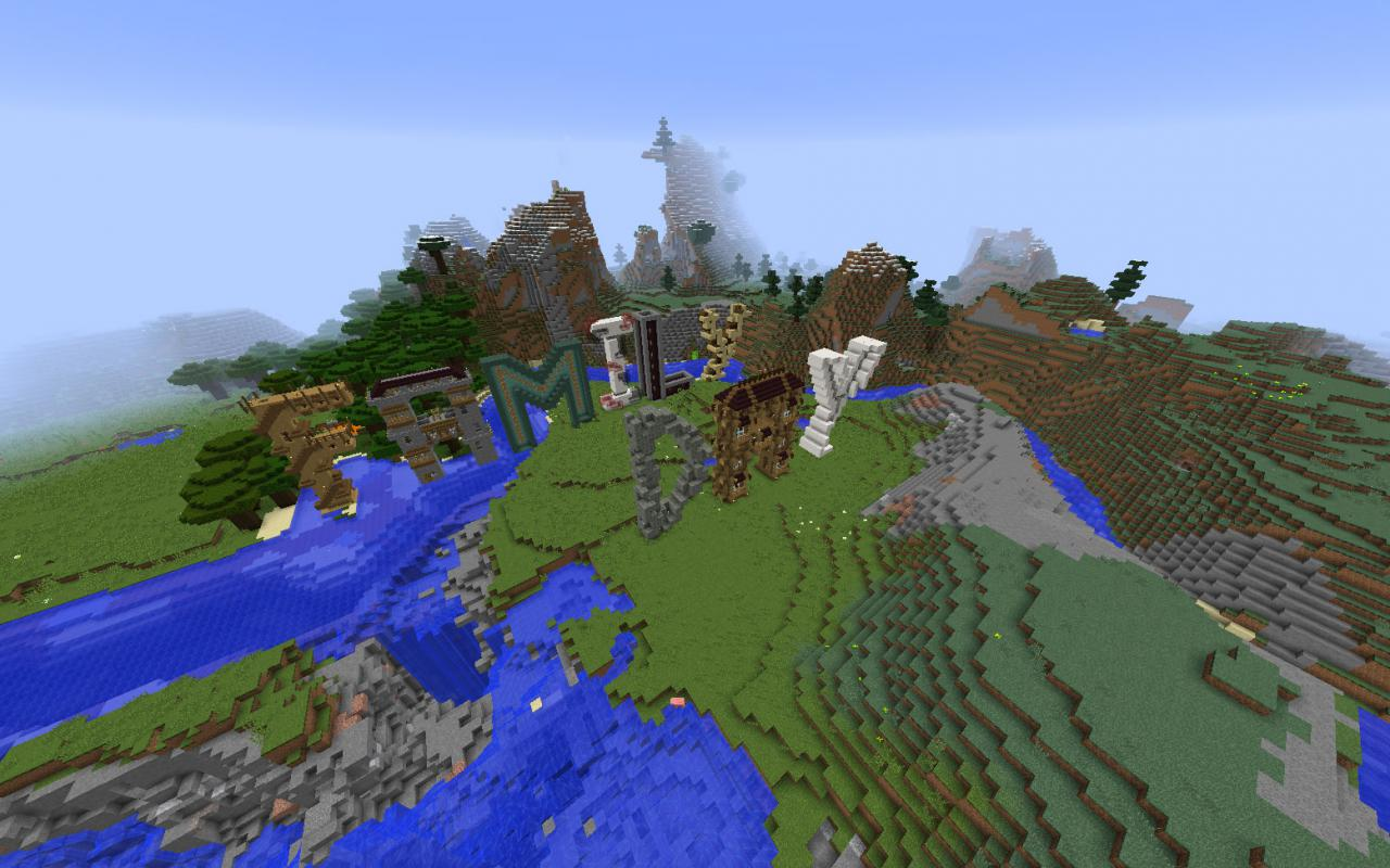 Writing »Family Day« within the Minecraft-Game