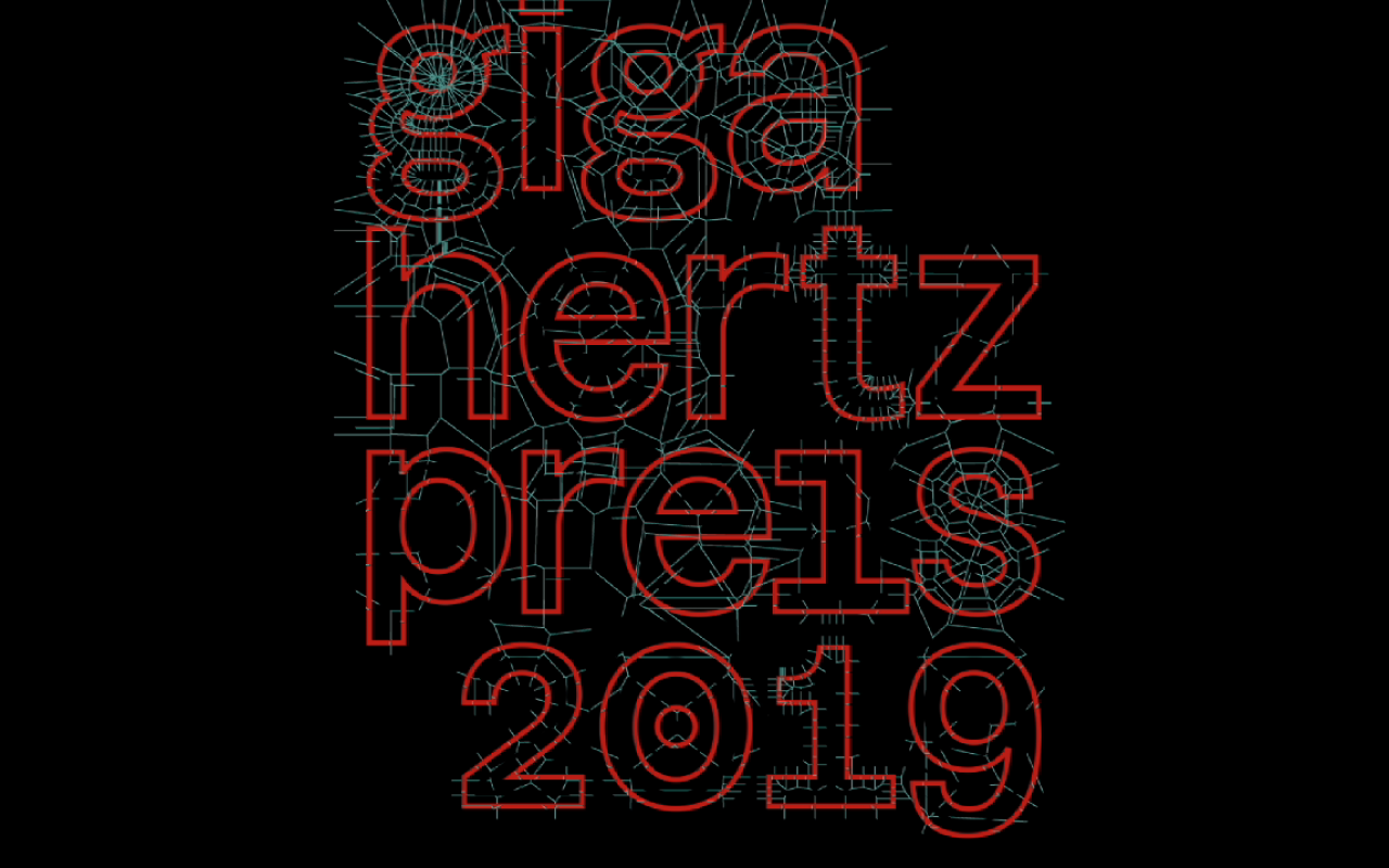 Giga-Hertz-Schriftzug